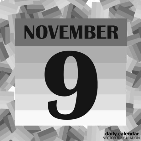 November 9 icon. For planning important day. Banner for holidays and special days. Illustration