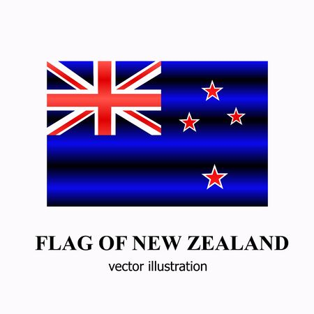 Banner with flag of New Zealand. Colorful illustration with flag for web design. Vector illustration with white background.