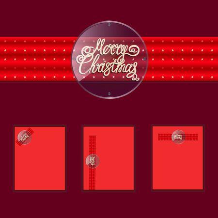 Merry christmas banners design. Illustration. Stockfoto