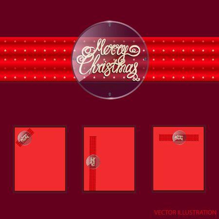 Merry christmas banners design. Vector illustration. Stock Illustratie