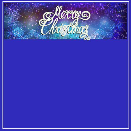 Merry Christmas background. Bright illusration. Stockfoto