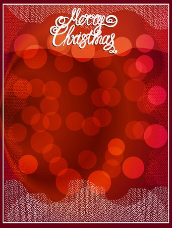 Bright banner Merry Christmas.