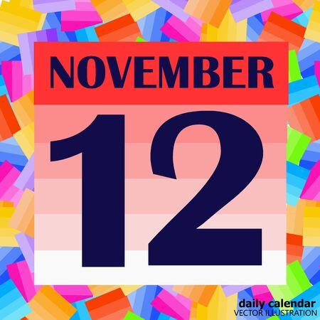 November 12 icon. For planning important day. Vektoros illusztráció