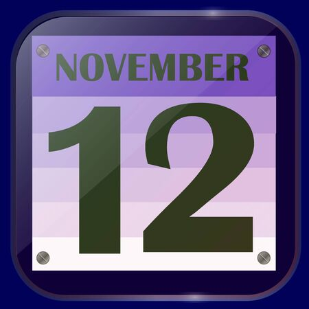 November 12 icon. For planning important day. Stock fotó
