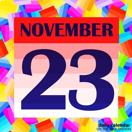 November 23 icon. For planning important day.