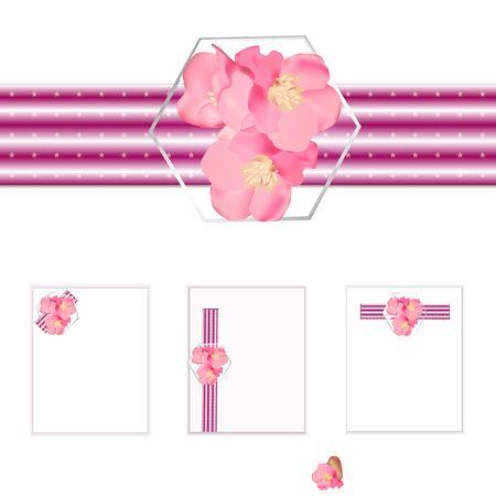 Design elements with spring flowers for holidays. Illustration. Zdjęcie Seryjne