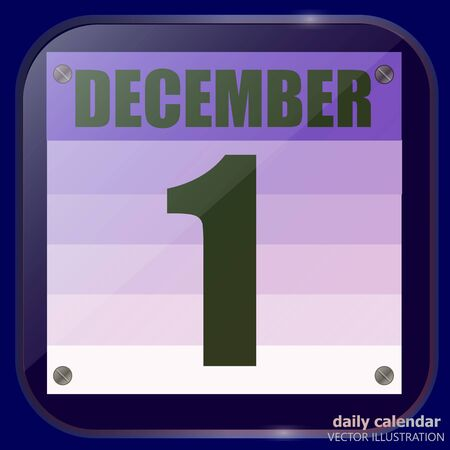 December 1 icon. For planning important day. December first. December icon. Banner for holidays and special day. Vector illustration.