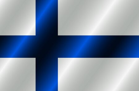 Banner with flag of Finland. Colorful illustration with flag for design. Bright illustration with flag.