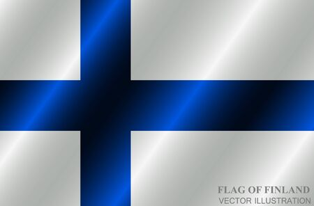 Banner with flag of Finland. Colorful illustration with flag for design. Bright illustration with flag. Vector.