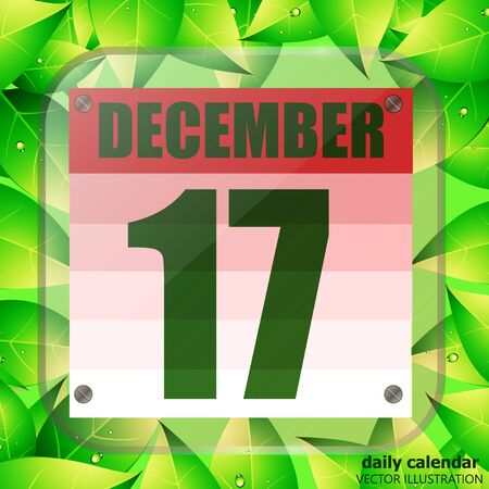 December 17 icon. For planning important day. Banner for holidays and special days. December seventeenth icon. Vector Illustration.