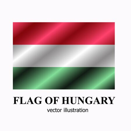 Bright button with flag of Hungary. Happy Hungary day banner. Vector Illustration.