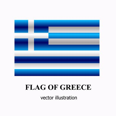 Banner with flag of Greece. Colorful illustration with flag for design. Bright vector illustration with white background. Illusztráció