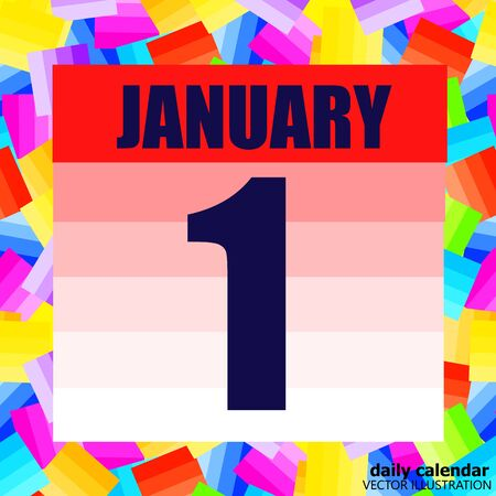 January 1 icon. For planning important day. Banner for holidays and special days. Vector.
