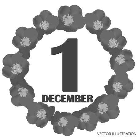December 1 icon. For planning important day. Banner for holidays and special days. Vector. Vektoros illusztráció