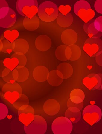 Happy valentines day background. Brightly Colorful Illustration. Design template for Valentines day.