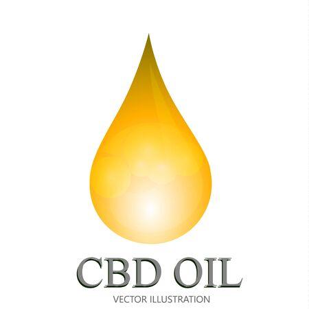 Marijuana and cannabis oil drop. Medical uses for cbd oil. Cannabis pills and capsules. Vector Illustration.