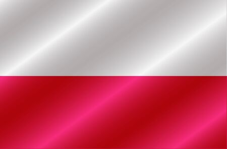 Banner with flag of Poland. Colorful illustration with flag for design.