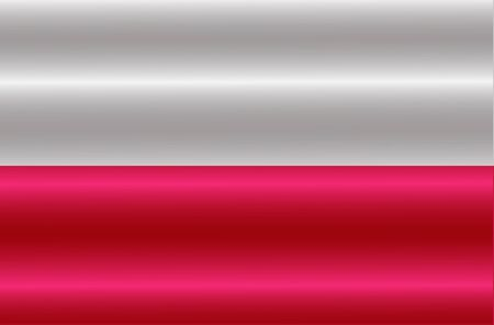 Flag of Poland with folds. Colorful illustration with flag for design. Bright Illustration. Stock fotó