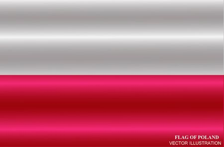 Flag of Poland with folds. Colorful illustration with flag for design. Vector Illustration. Illusztráció