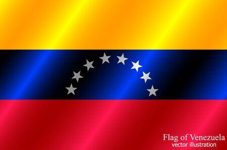 Flag of Venezuela with folds. Colorful illustration with flag for design.