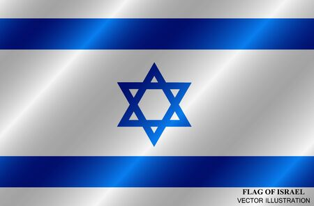 Bright background with flag of Israel. Independence Day of Israel background. Illustration with flag .