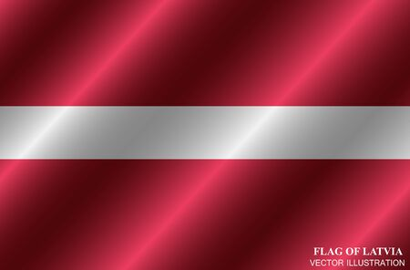 Bright background with flag of Latvia. Happy Latvia day background. Illustration with flag . Stok Fotoğraf