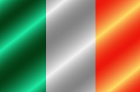 Bright button with flag of Ireland. Happy St. Patricks Day background. Illustration with irish flag. Stok Fotoğraf