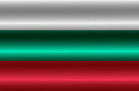 Bright background with flag of Bulgaria. Happy Bulgaria day background. Bright button with flag.