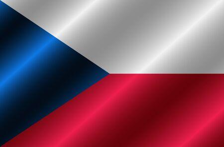 Flag of Czech Republic with folds. Happy Czech day background. Button with flag. Stok Fotoğraf