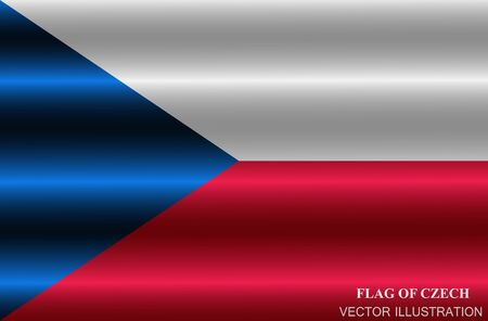Bright background with flag of Czech Republic . Happy Czech day background. Button with flag.