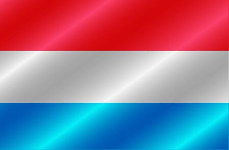 Banner with flag of Luxembourg. Colorful illustration with flag for design.