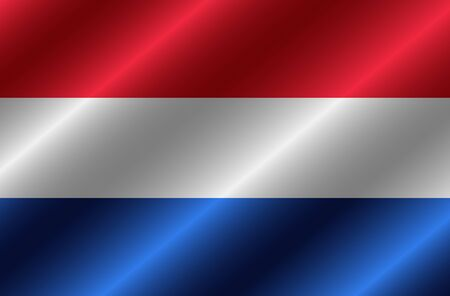 Flag of Netherlands with folds. Happy Netherlands day background. Illustration with flag. .