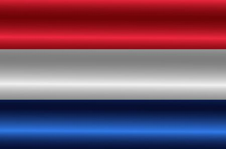 Bright background with flag of Netherlands. Happy Netherlands day background. Illustration with flag .