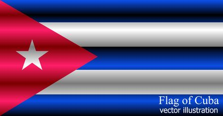Happy Cuba day background. Bright background with flag of Cuba .
