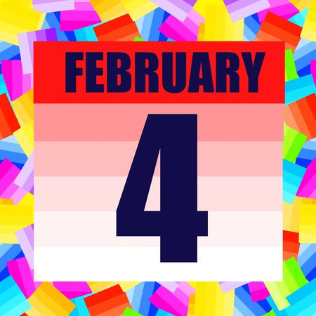 February 4 icon. For planning important day. Banner for holidays and special days. Fourth of february. Stok Fotoğraf