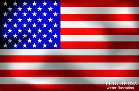 Happy America day background. Flag of USA with folds. Bright background with flag of USA. Stok Fotoğraf