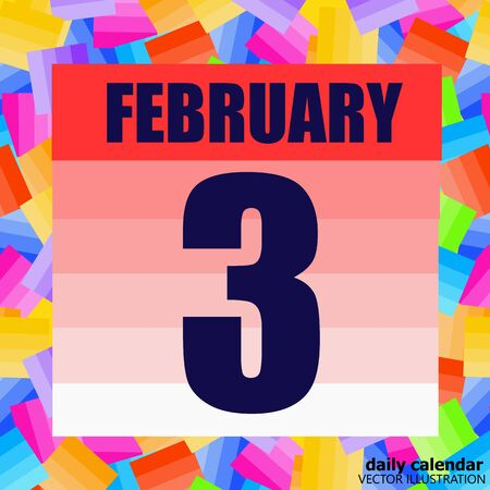 February 3 icon. For planning important day. Third of february. Banner for holidays and special days. Ilustração