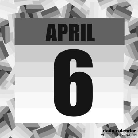 April 6 icon. For planning important day. Sixth of april. Banner for holidays and special days. Vector Illustration.