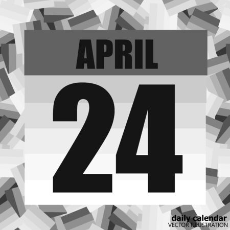 April 24 icon. For planning important day. Banner for holidays and special days. Twenty-fourth of april.