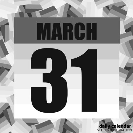 March 31 icon. For planning important day. Banner for holidays and special days. March thirty-first.