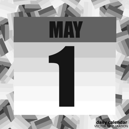 May 1 icon. For planning important day. Banner for holidays and special days. Vector Illustration.