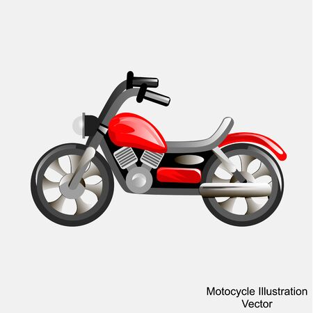 Bright Illustration of motorcycle. Vector.