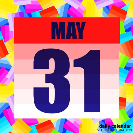 May 31 icon. For planning important day. Banner for holidays and special days. May thirty-first.