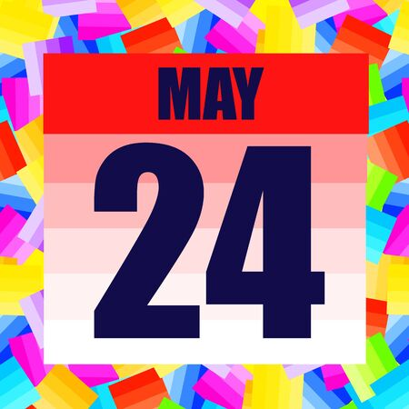 May 24 icon. For planning important day. Banner for holidays and special days. Twenty-fourth of may.