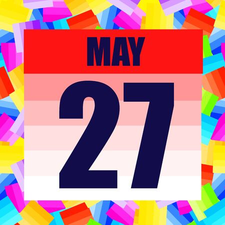 May 27 icon. For planning important day. Banner for holidays and special days. May 27th.
