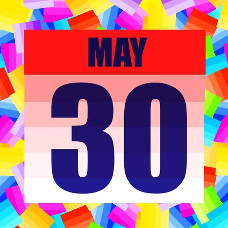 May 30 icon. For planning important day. Banner for holidays and special days. May thirtieth. Stok Fotoğraf