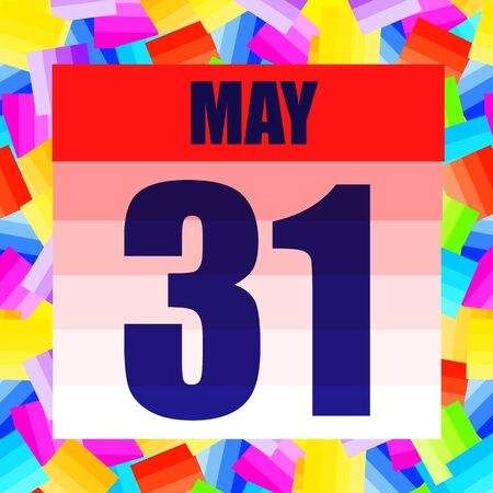 May 31 icon. For planning important day. Banner for holidays and special days. May thirty-first. Stok Fotoğraf