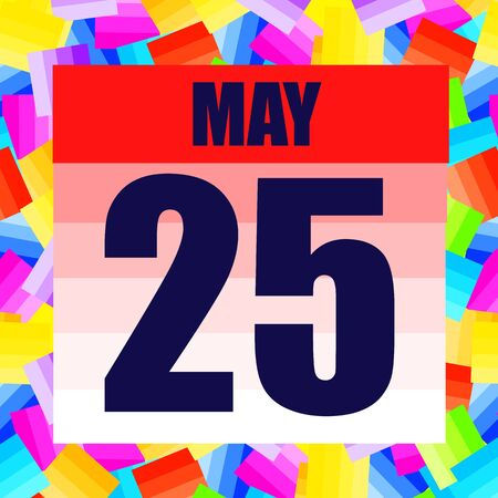 May 25 icon. For planning important day. Banner for holidays and special days. June twenty fifth.