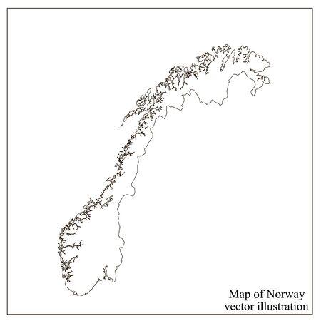 Map of Norway with flag. Norwegian infographic. Vektorgrafik