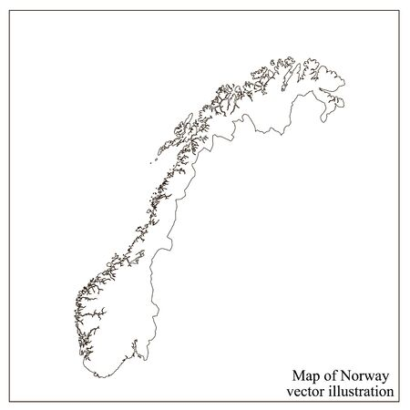 Map of Norway with flag. Norwegian infographic.